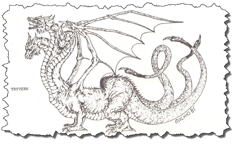Three-Headed Wyvern. Tryvern. Of Course.